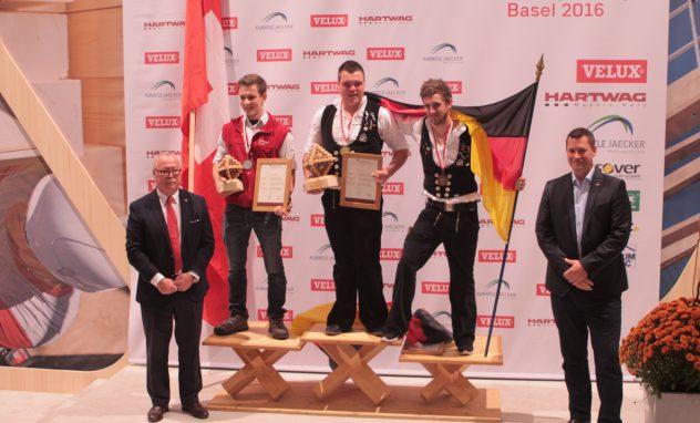 Siegerehrung bei der Europameisterschaft der Zimmerleute in der Einzelwertung (Foto: Sandra Depner)