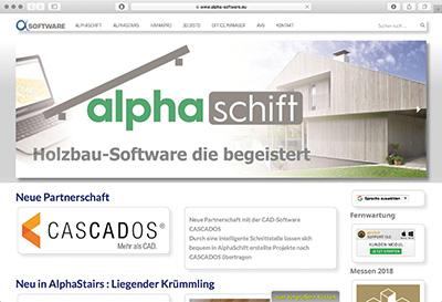 Alpha-Software Programm für den Holz- und Treppenbau