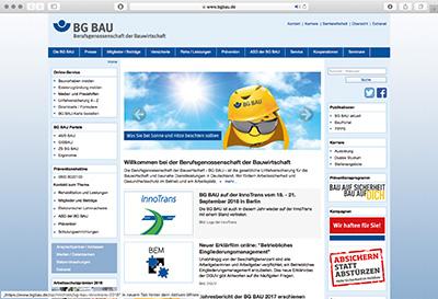 BG BAU Berufsgenossenschaft der Bauwirtschaft Hauptverwaltung