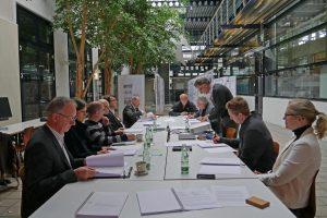 Jurysitzung; Hochschulpreis Holzbau, Hochschule Anhalt