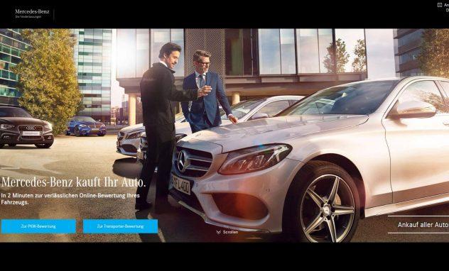 Screenshot; Mercedes-Benz kauft Ihr Auto