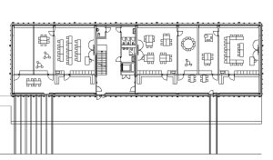 Grundriss des Obergeschosses der Schule in Nottwil