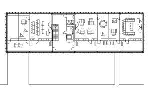 Grundriss vom Obergeschoss der Schule in Nottwil