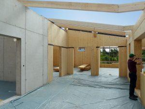 Bauphase der KiTa Holzwürmchen