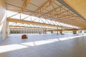Blick in die Produktionshalle Waldenburg