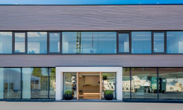 Bürogebäude, Krug Holzsystembinder GmbH, Stadtlauringen
