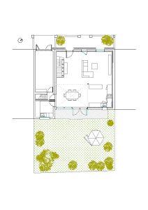 Grundriss eines Einfamilienhauses