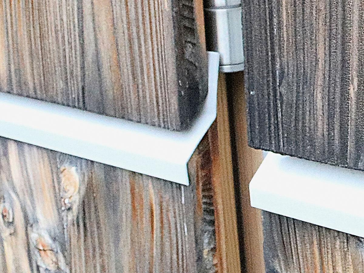 Plattenschmalseitenabdeckung als Fassadenkonstruktion