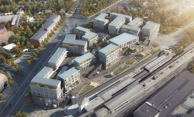 Vogelansicht des Kronen-Einkaufszentrums in Kopenhagen