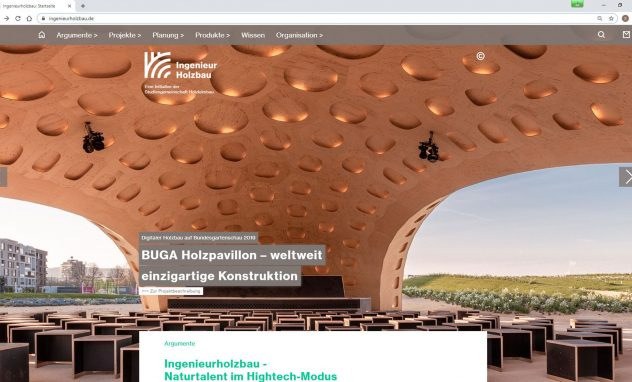 Screenshot ingenieurholzbau.de
