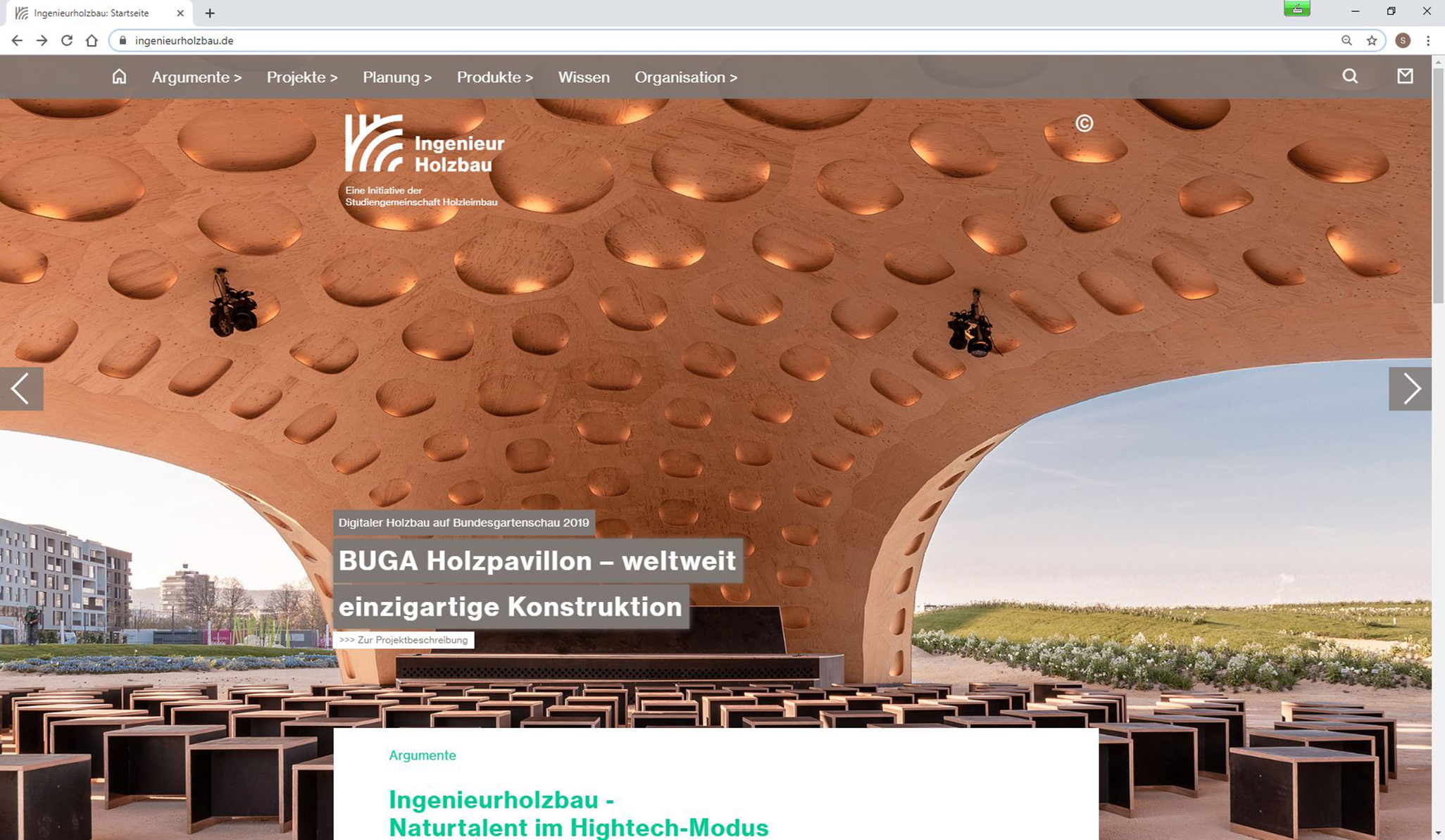 Screenshot ingenieurholzbau.de