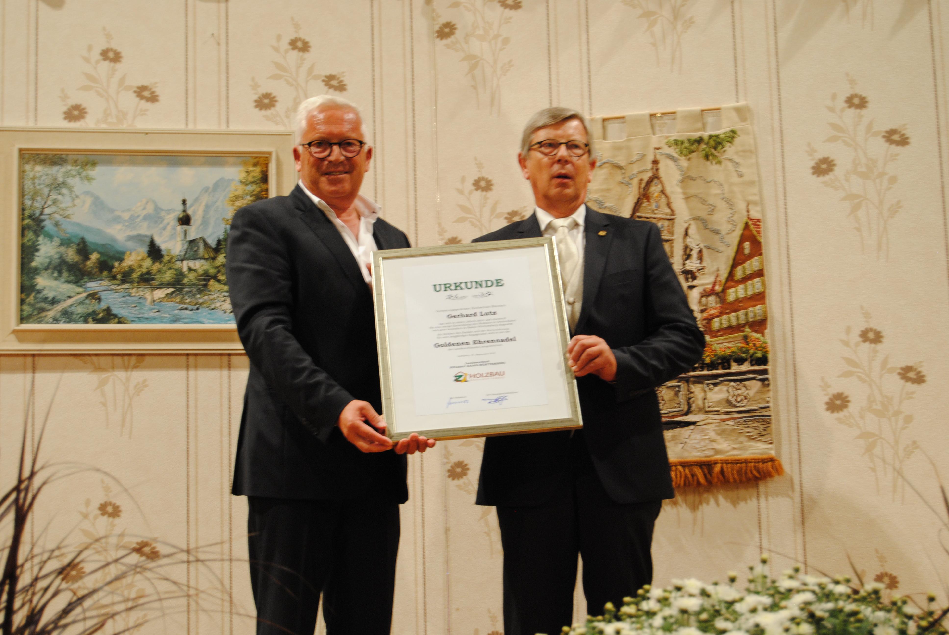 Josef Schlosser und Gerhard Lutz