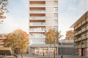 Grafik Hochhaus aus Holz in Freiburg