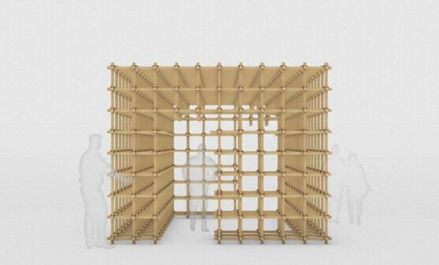 Gitterkonstruktion aus Holz