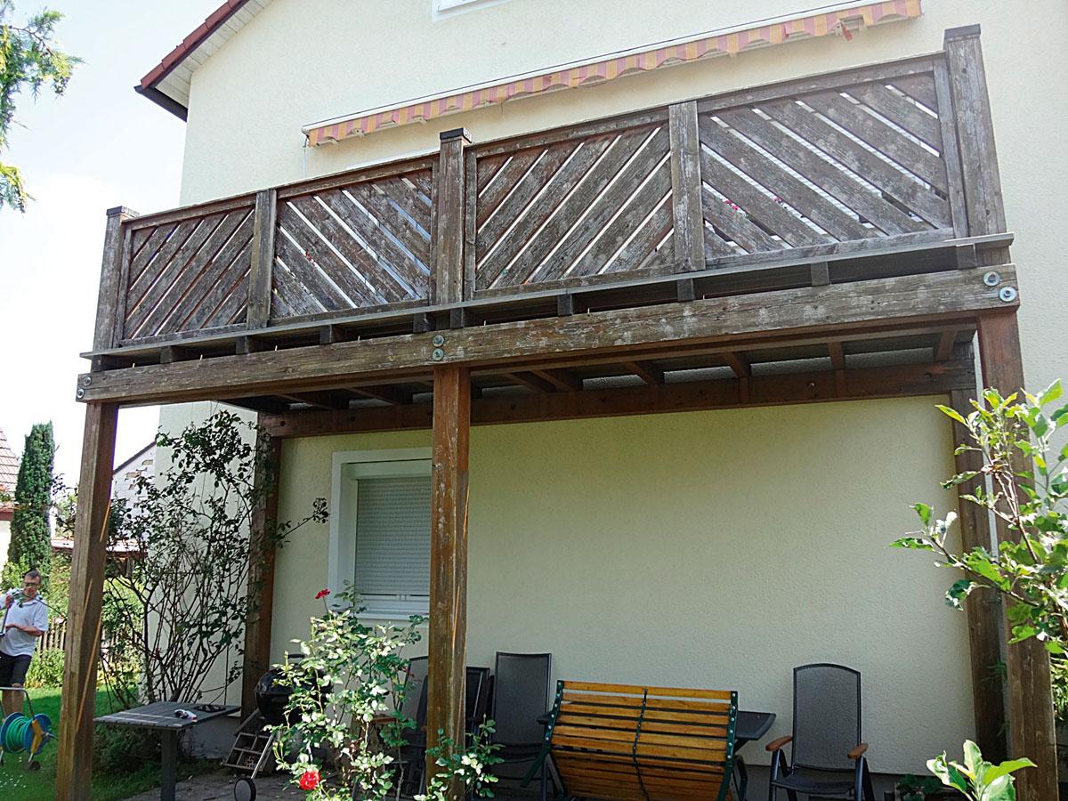 Ungeschützte Balkonkonstruktionen