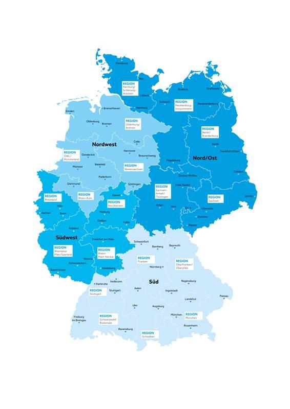 BMI Deutschlan karte