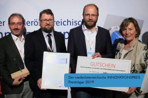 Sechs personen bei Verleihung Innovationspreis 2019
