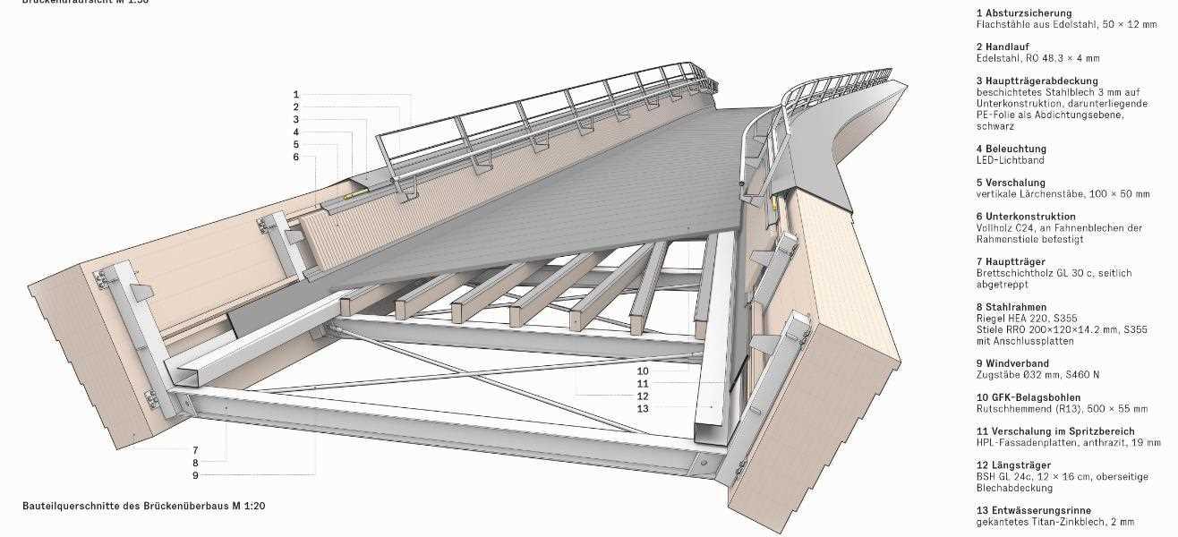 Grafik Holzbrücke