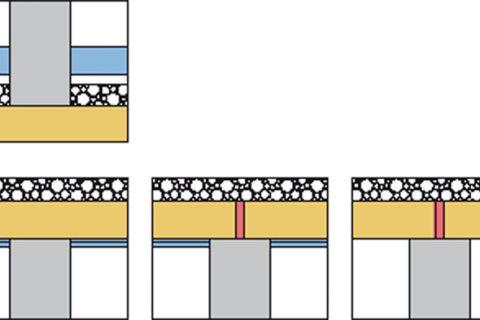 Massivholzbauteile als flankierende Bauteile