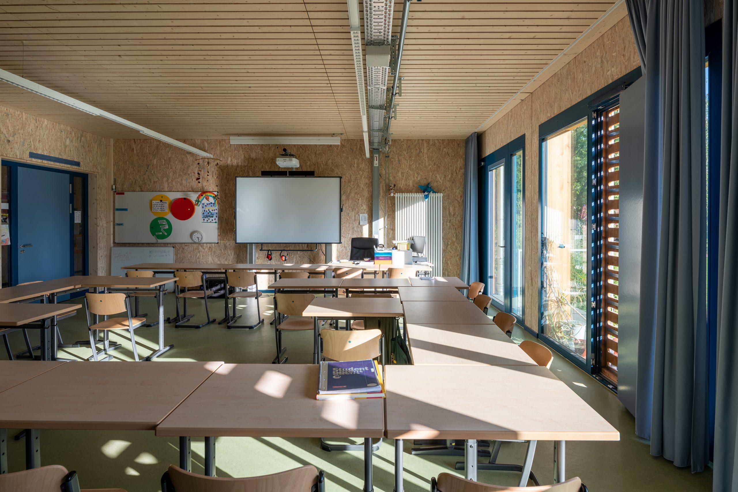 Innenraum Klassenzimmer