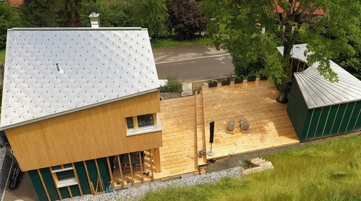 Holzhaus von oben