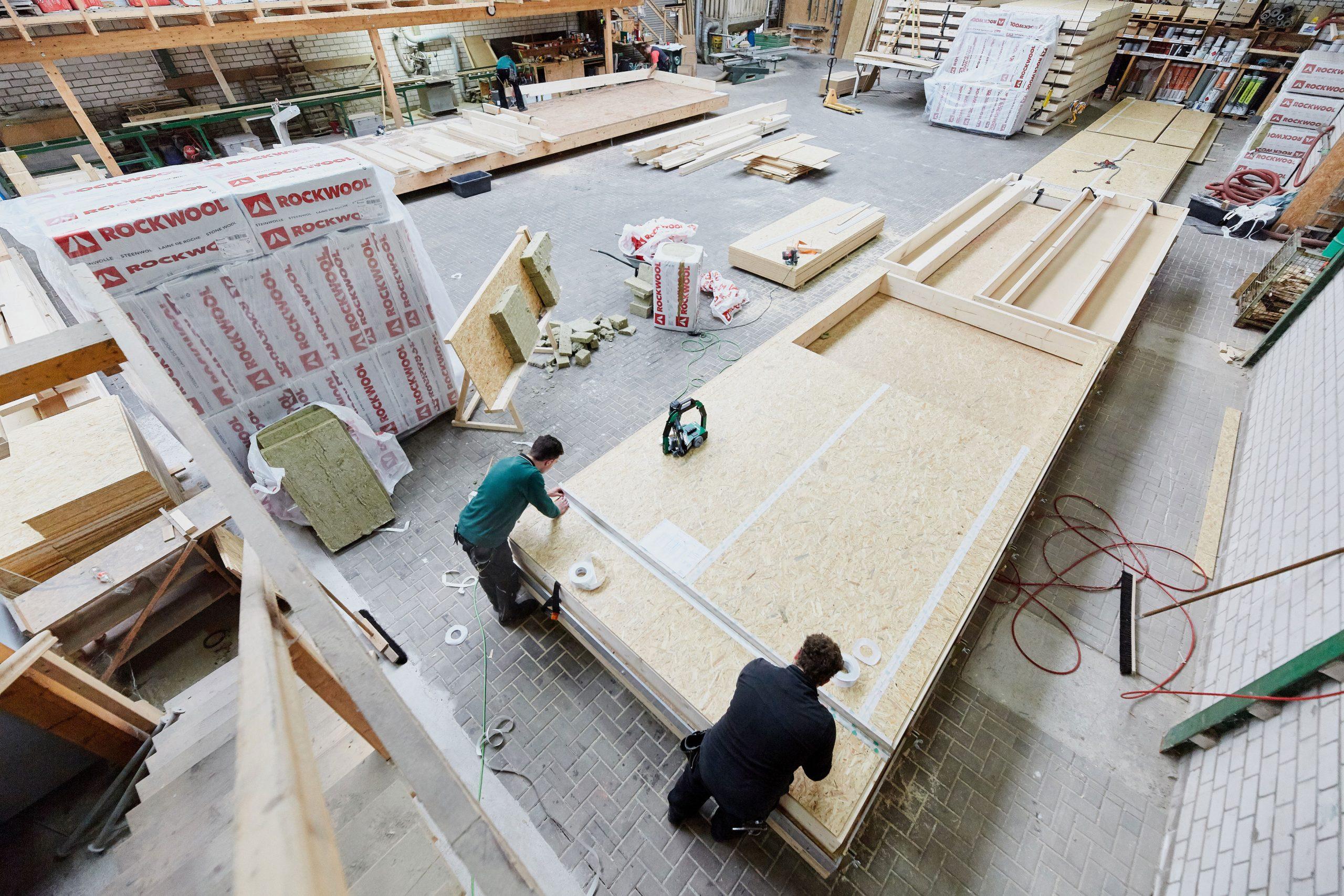 Dämmung Rockwool Holzriegelkonstruktion