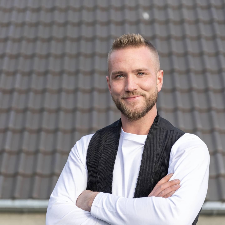 Dachdecker René Gößling Messebotschfter Dach+Holz 2022