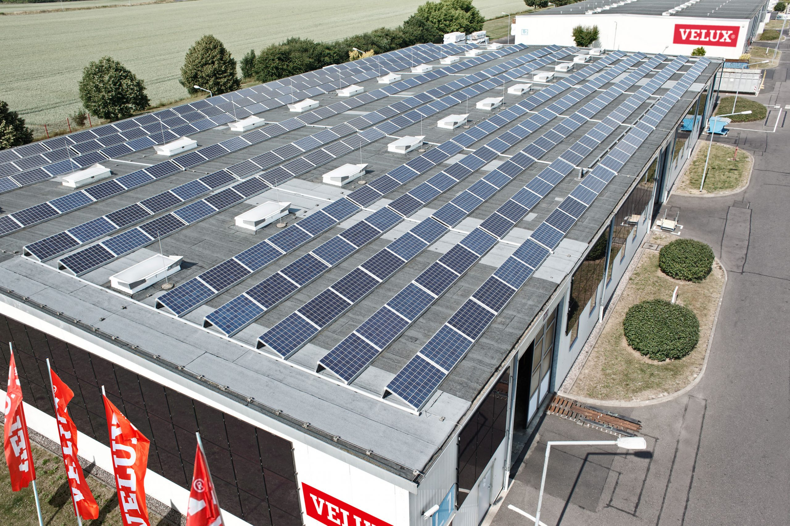 Velux Halle Photovoltaik Nachhaltigkeitspreis