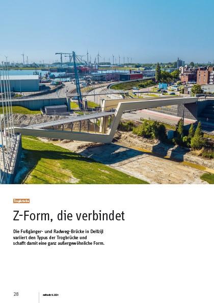 Fuß- und Radwegbrücke in Delfzijl