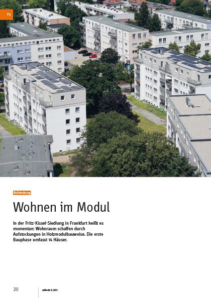 Aufstockung Fritz-Kissel-Siedlung in Frankfurt